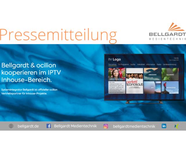 Bellgardt & ocilion kooperieren im IPTV Inhouse-Bereich.