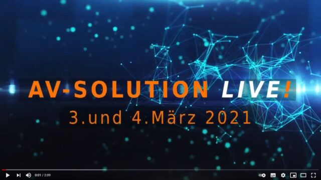 AV-Solution LIVE! – Save the date
