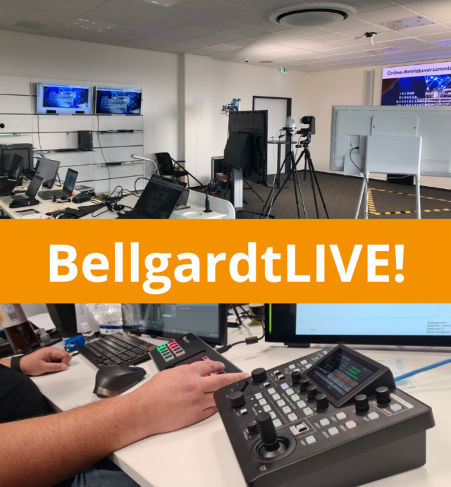 BellgardtLIVE! Online-Events professionell streamen