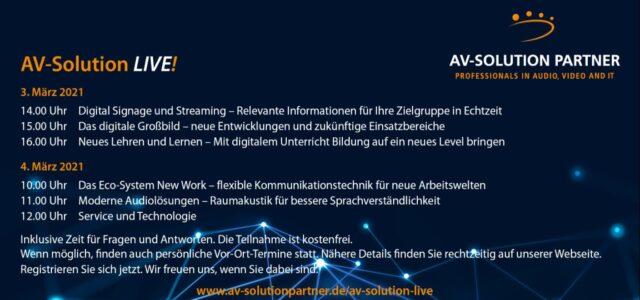 Einladung zu AV-Solution LIVE!