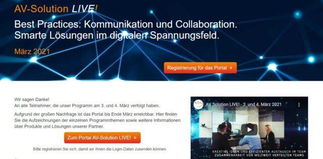 AV-Solution LIVE! – Aufzeichnungen ansehen