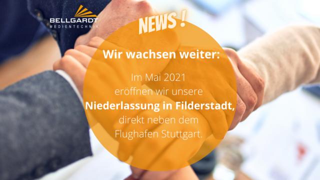 Wir wachsen weiter: neue Niederlassung in Filderstadt