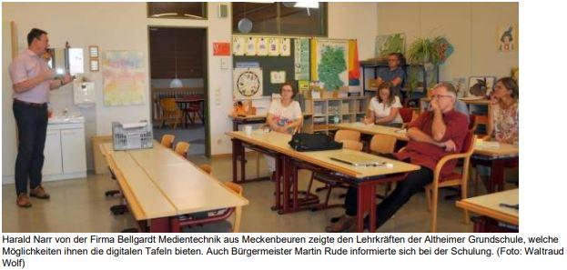 SZ-Bericht: Grundschule zukunftsorientiert aufgestellt